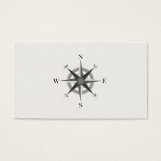 Cartão de visita náutico do compasso