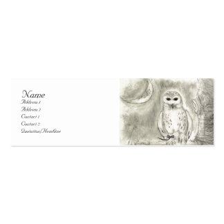 Cartão de visita nevado da coruja