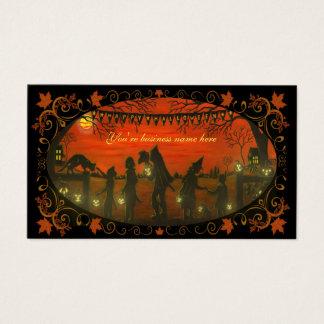 """Cartão de visita """"o Dia das Bruxas feliz """" do Dia"""