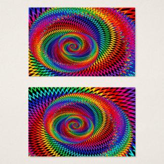 Cartão de visita ondulado do Fractal do arco-íris