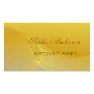 Cartão de visita ondulado dourado