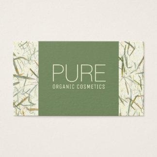 Cartão de visita orgânico bege dos cosméticos de