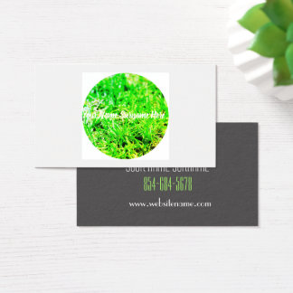 Cartão de visita orgânico da sensação do gramado