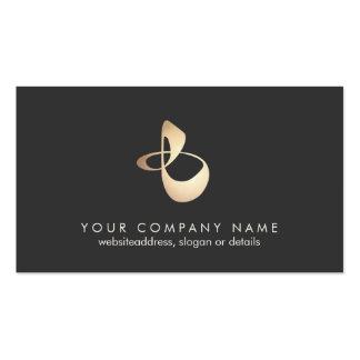 Cartão de visita orgânico do logotipo da forma