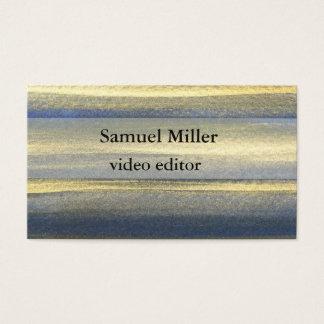 Cartão de visita original artístico azul do editor