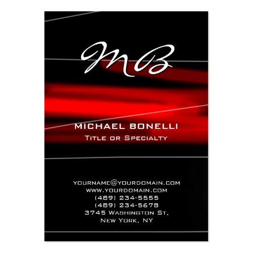 Cartão de visita original do monograma preto verme