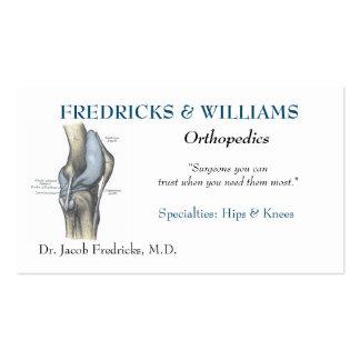 Cartão de visita ortopédico do cirurgião