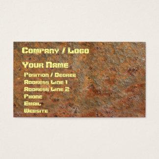 Cartão de visita oxidado