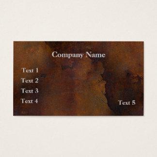 Cartão de visita oxidado do olhar do metal