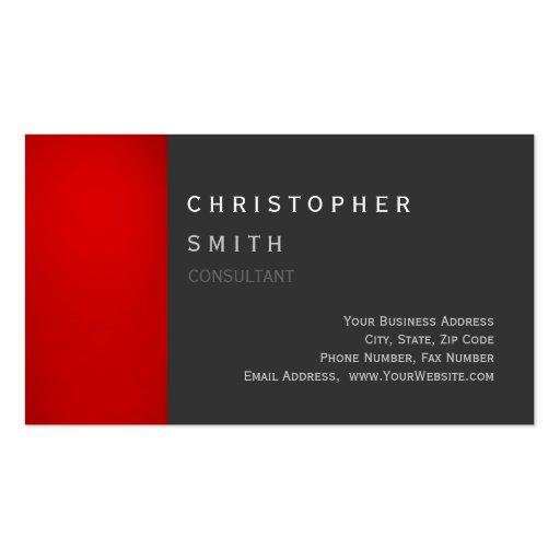 Cartão de visita padrão original cinzento vermelho