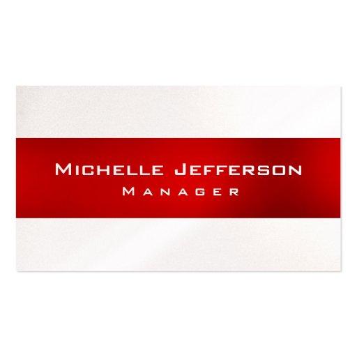 Cartão de visita padrão original vermelho do geren