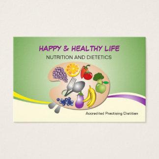 cartão de visita para a dietista & a nutrição de