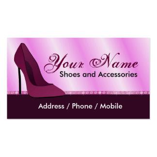 Cartão de visita para a loja de calçados