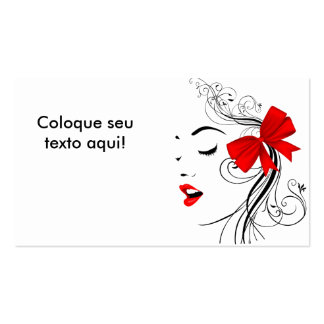 Cartão de visita para beleza e estética