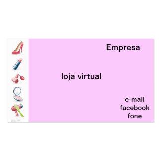 Cartão de visita para loja virtual