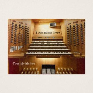Cartão de visita para músicos da igreja - console