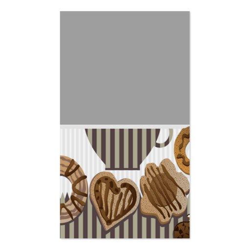 cartão de visita para negociantes do biscoito