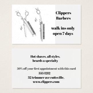 Cartão de visita para o barbeiro ou o cabeleireiro