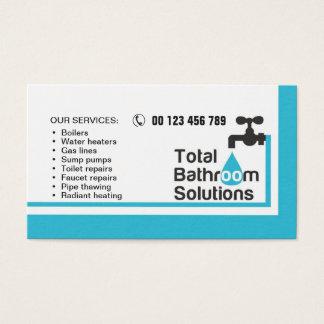 cartão de visita para o canalizador & o
