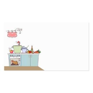 cartão de visita para o cozinheiro ou o cozinheiro