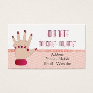 Cartão de visita para o manicuro