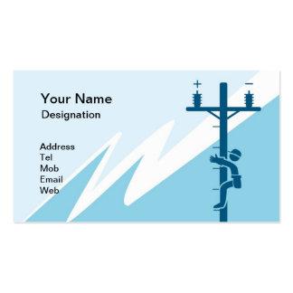 Cartão de visita para o negócio elétrico
