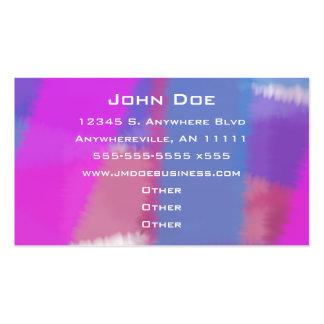 Cartão de visita Pastel da amostra de folha