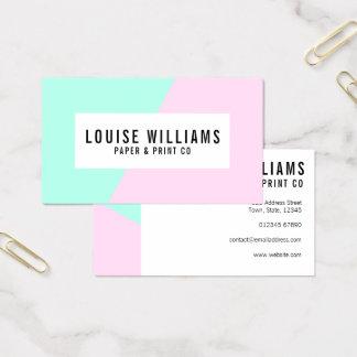 Cartão De Visitas Cartão de visita pastel de néon do lilac e da