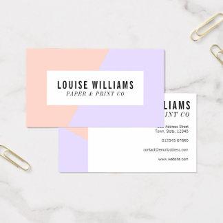 Cartão De Visitas Cartão de visita pastel de néon do lilac e do