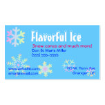 Cartão de visita Pastel dos flocos de neve