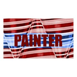Cartão de visita patriótico do pintor