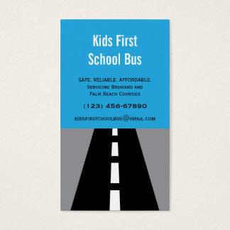 Cartão de visita pavimentado do auto escolar da