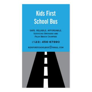 Cartão de visita pavimentado do auto escolar da ru