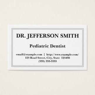 Cartão de visita pediatra customizável do dentista