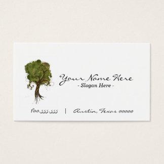 """""""Cartão de visita pela árvore"""" Cartão De Visitas"""