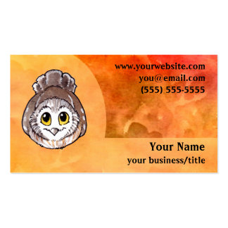 Cartão de visita pequeno da coruja - impetuosament
