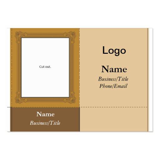 Cartão de visita pequeno da moldura para retrato d