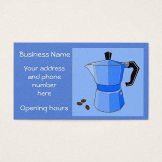 Cartão de visita personalizado café do arco-íris