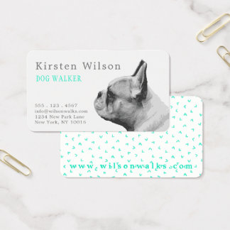 Cartão de visita personalizado | do amor do Pug