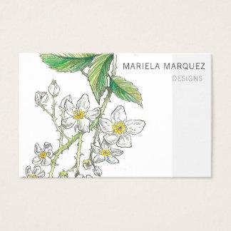 Cartão de visita personalizado flor da amora