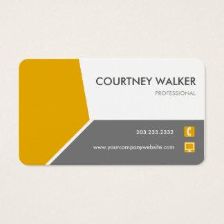 Cartão de visita personalizar-capaz alaranjado