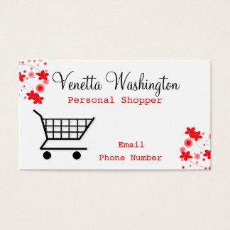 Cartão de visita pessoal do cliente