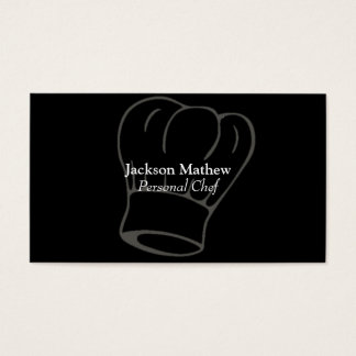 Cartão de visita pessoal do cozinheiro chefe