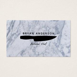 Cartão de visita pessoal do cozinheiro chefe da