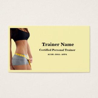 Cartão de visita pessoal do instrutor
