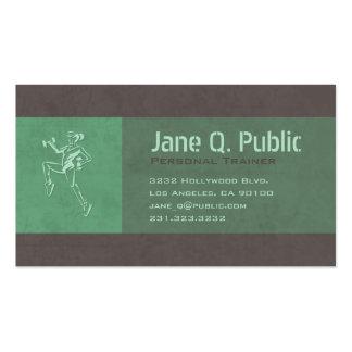 Cartão de visita pessoal do instrutor (brilhante)