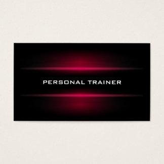 Cartão de visita pessoal elegante do instrutor