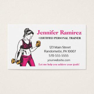 Cartão de visita pessoal fêmea do instrutor