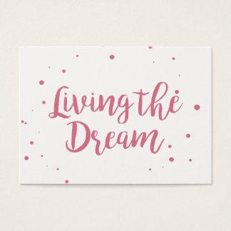 Cartão de visita poderoso que vive o sonho