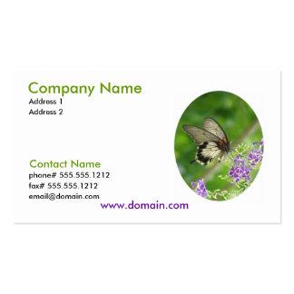 Cartão de visita Pollinating da borboleta